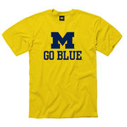 University of Michigan Yellow ''M Go Blue'' Tee