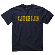 New Agenda University of Michigan French Navy Language Tee