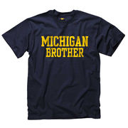New Agenda Navy University of Michigan Brother Tee