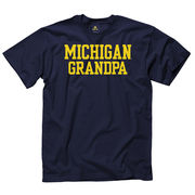 University of Michigan Grandpa Navy Tee