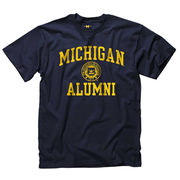 New Agenda University of Michigan Alumni Navy Seal Tee