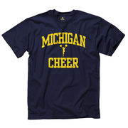 New Agenda University of Michigan Cheerleading Navy Sport Tee