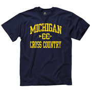 New Agenda University of Michigan Cross Country Navy Sport Tee