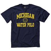 New Agenda University of Michigan Water Polo Navy Sport Tee