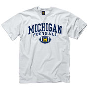 New Agenda University of Michigan Football White Graphic Tee