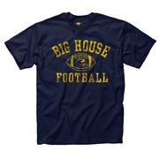 New Agenda University of Michigan Navy Distressed Big House Football Tee