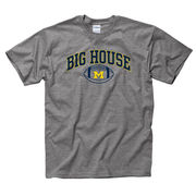 University of Michigan Football Graphite Heather Big House Tee
