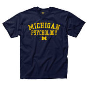 University of Michigan Psychology Navy Tee