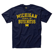 University of Michigan School of Business Navy Tee
