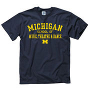 University of Michigan School of Music, Theatre, and Dance Navy Tee