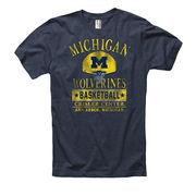 New Agenda University of Michigan Basketball Navy Ringspun Tee