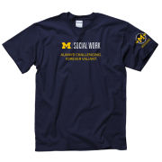 New Agenda University of Michigan Bicentennial School of Social Work Navy Tee