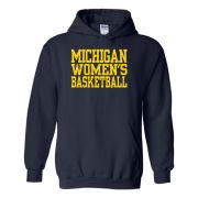 University of Michigan Women's Basketball Navy Hooded Sweatshirt