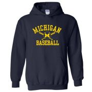 University of Michigan Baseball Navy Hooded Sweatshirt