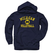 New Agenda University of Michigan Volleyball Navy Hooded Sweatshirt