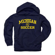 New Agenda University of Michigan Soccer Navy Hooded Sweatshirt