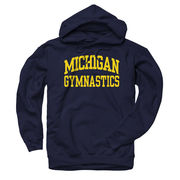 New Agenda University of Michigan Gymnastics Navy Hooded Sweatshirt
