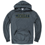 New Agenda University of Michigan Dark Heather Blue Hooded Sweatshirt
