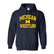 University of Michigan Wrestling Navy Hooded Sweatshirt