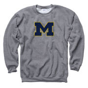 University of Michigan Graphite Block ''M'' Crewneck Sweatshirt