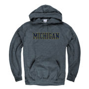 University of Michigan Dark Heather Hooded Sweatshirt