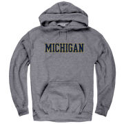University of Michigan Graphite Hooded Sweatshirt