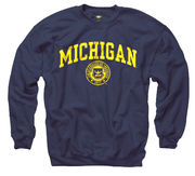 New Agenda University of Michigan Navy Seal Crewneck Sweatshirt