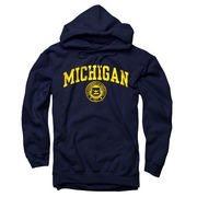 New Agenda University of Michigan Navy Seal Hooded Sweatshirt