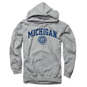 New Agenda University of Michigan Oxford Gray Seal Hooded Sweatshirt