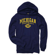 New Agenda University of Michigan Football Navy Hooded Sweatshirt