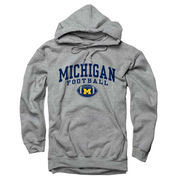 New Agenda University of Michigan Football Oxford Gray Hooded Sweatshirt