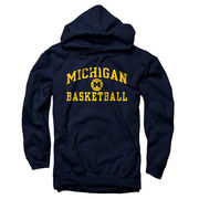 University of Michigan Basketball Navy Hooded Sweatshirt