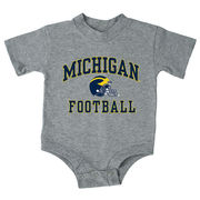 New Agenda University of Michigan Football Infant Gray Onesie