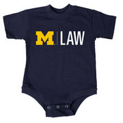 University of Michigan Law School Infant Navy Onesie