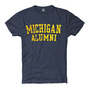 New Agenda University of Michigan Alumni Ladies Heather Navy Tee