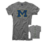 University of Michigan Juniors Gray M/Michigan Tee
