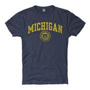 University of Michigan Juniors Midnight Heather Navy Seal Tee