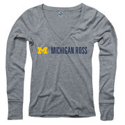 New Agenda University of Michigan Ross School of Business Ladies Gray LS Tee