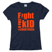 New Agenda #ChadTough Fight Like a Kid Ladies Navy Tee
