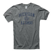 New Agenda University of Michigan Alumni Juniors Oxford Gray Seal Tee