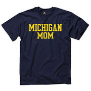 University of Michigan Navy Mom Tee
