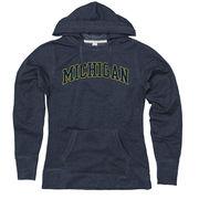 New Agenda University of Michigan Ladies Heather Navy Dorm Room Hood