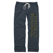 New Agenda University of Michigan Ladies Midnight Navy Boyfriend Sweatpants