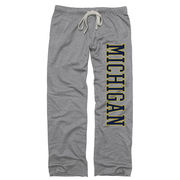 New Agenda University of Michigan Ladies Gray Boyfriend Sweatpants