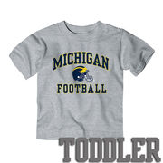New Agenda University of Michigan Football Toddler Gray Tee