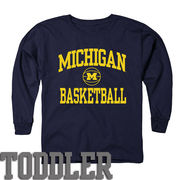New Agenda University of Michigan Basketball Toddler Navy Long Sleeve Tee