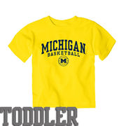 New Agenda University of Michigan Basketball Toddler Yellow Tee