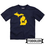University of Michigan Toddler Navy State of Michigan Tee