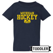 New Agenda University of Michigan Hockey Toddler Navy Tee