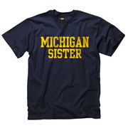 University of Michigan Sister Youth Navy Tee